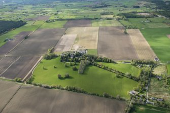 General oblique aerial view centred on Kilcoy Castle, looking NW.