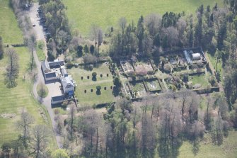 Oblique aerial view of Greenbank House, looking SE.
