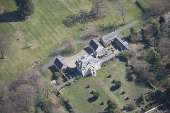 Oblique aerial view of Greenbank House, looking ENE.
