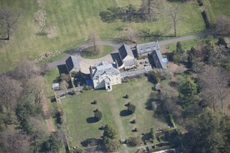 Oblique aerial view of Greenbank House, looking NE.