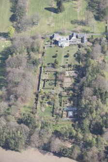 Oblique aerial view of Greenbank House, looking NNE.