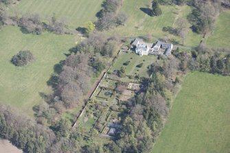 Oblique aerial view of Greenbank House, looking N.
