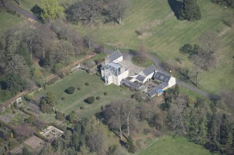 Oblique aerial view of Greenbank House, looking NNW.