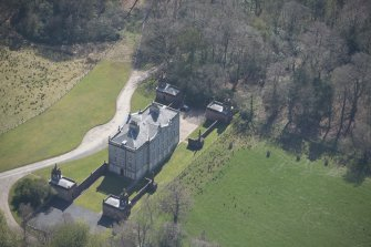Oblique aerial view of Auchinleck House, looking SE.