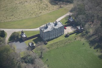 Oblique aerial view of Auchinleck House, looking ESE.