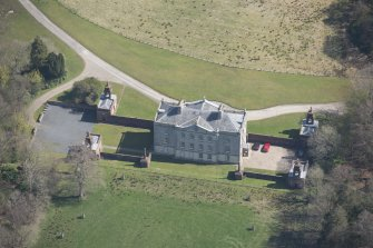 Oblique aerial view of Auchinleck House, looking ENE.