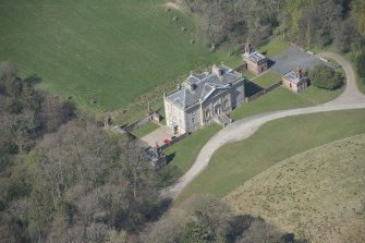 Oblique aerial view of Auchinleck House, looking NW.