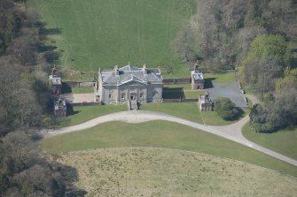 Oblique aerial view of Auchinleck House, looking W.