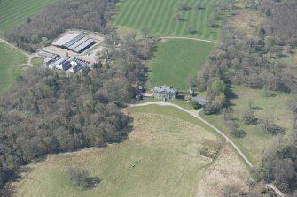 Oblique aerial view of Auchinleck House, looking WSW.