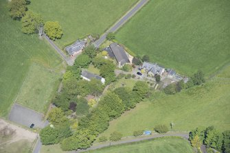 Oblique aerial view of St Mahew's Chapel, looking WNW.