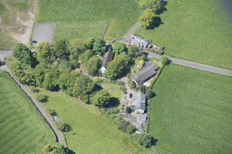 Oblique aerial view of St Mahew's Chapel, looking W.