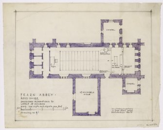 Survey of seating and layout. Proposed alterations to layout of church.