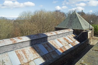 General view of roof of Boiler House, taken from the west.