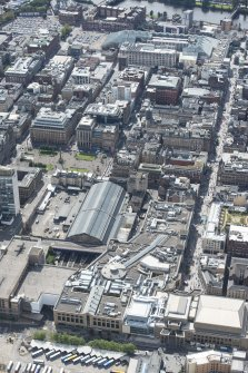 Oblique aerial view of central Glasgow, looking S.