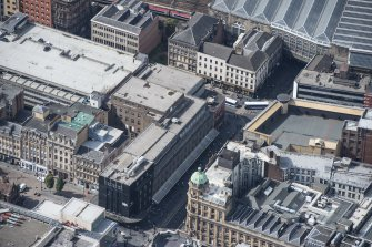 Oblique aerial view of central Glasgow, looking SW.