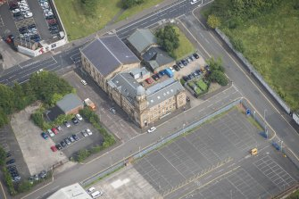 Oblique aerial view of Kirkhaven Church, looking NNE.
