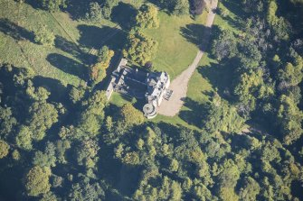 Oblique aerial view of Arndilly House, looking NNE.