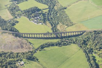 Oblique aerial view of Nairn Viaduct, looking W.
