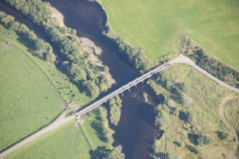Oblique aerial view of Broomhill Bridge, looking E.
