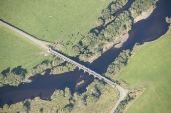 Oblique aerial view of Broomhill Bridge, looking NE.