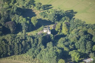 Oblique aerial view of Lickleyhead Castle, looking WSW.