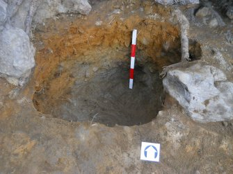 Post-excavation image of posthole 155, Comar Wood Dun, Cannich, Strathglass