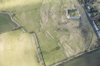Oblique aerial view of Hume Castle, looking WSW.
