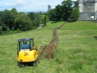 Image of trench excavations, photograph from an archaeological watching brief at Dundas Castle, South Queensferry