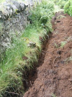Trench at 195 m, photograph from an archaeological watching brief at Dundas Castle, South Queensferry