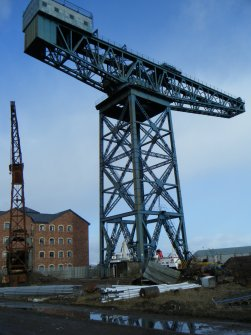 View of the main crane, photograph from watching brief at James Watt Dock, Glasgow