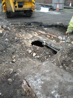View of the culvert, photograph from watching brief at James Watt Dock, Glasgow