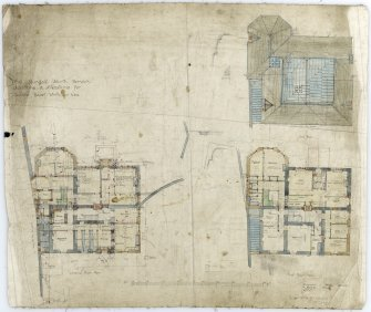 Alterations for James Baird Whitelaw. Plans, sections and elevations showing additions and alterations and including details of levels of ground, heating and drainage.