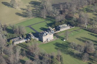 Oblique aerial view of Arniston House, looking NE.