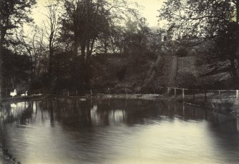 General view of grounds showing curling pond, The Peel, Busby
