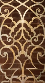 Detail of metal fretwork decoration.