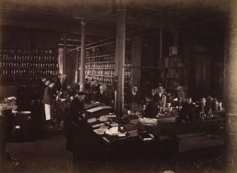 Interior view of dry goods warehouse at Duncan, Flockhart & Co's, Edinburgh.