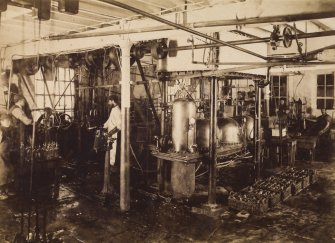 Interior view of the aerated waters department at Duncan, Flockhart & Co's, Edinburgh.