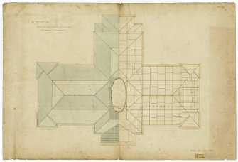 Edinburgh Academy. Plan of roof. Titled: 'New High School. No.9'  '131 George Street July 4th 1823'
