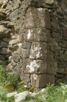 South east range, detail of cornerstones at south end