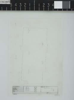 Excavation drawing: Room 8/9 outline.