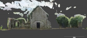 Linked image to Illus A1.5:  S wall elevation, internal associated with Historic Building Record at Old Parish Church, Kinfauns