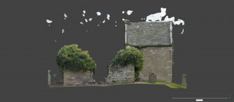 Linked image to Illus A1.6: W wall elevation, external and internal and aisle associated with Historic Building Record at Old Parish Church, Kinfauns