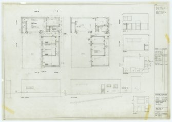 Galashiels, Langlee estate, housing development. Type C, Courtyard Houses. Floor plans