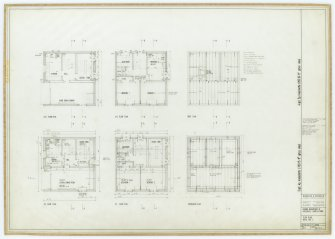 Galashiels, Langlee estate, housing development. Type E, single towers. Floor plans