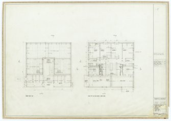 Galashiels, Langlee estate, housing development. Type H, plans