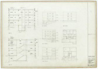 Galashiels, Langlee estate, housing development. Type H, section, plans and elevations