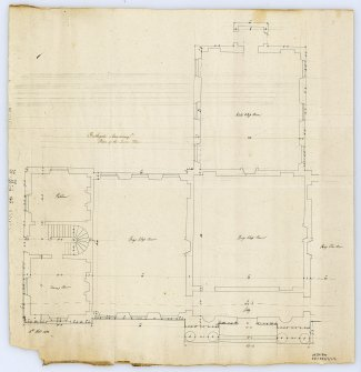 Plan of lower floor of Bathgate Academy