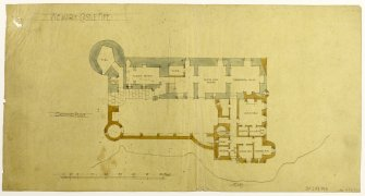 Ground Floor Plan. Proposed restoration and additions for Wm Burrell (not executed). R S Lorimer