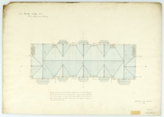 Plan of roof of main building. With measurements (Wm.Burn) 131 George St.Edin.1831