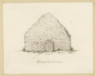 Drawing of W end of Kilnave church.